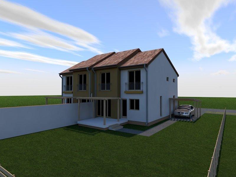 Teren de vanzare cu proiect 2 case alaturate